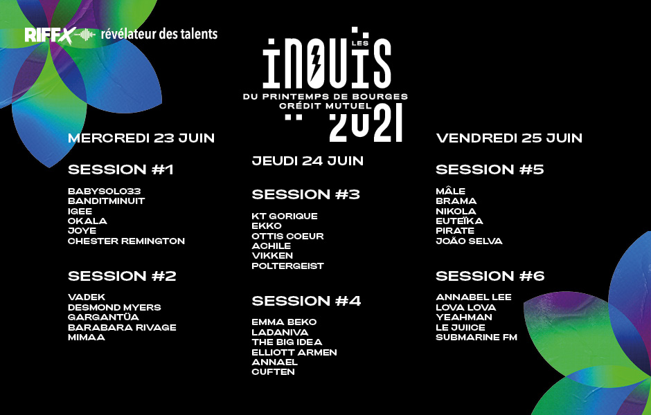 Les iNOUïS du Printemps de Bourges 2021 : ouverture de la billetterie !